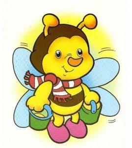arı renkli boyama sayfası