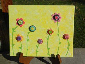 düğmeden çiçek