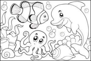 deniz hayvanları boyama