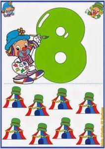 ilokul eğlenceli sayı kartı