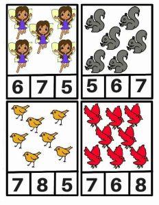 kuş sayı kartı