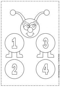 tırtıl sayılar boyama