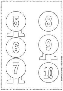 tırtıl sayılar boyama etkinliği