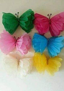 tissue paper butterfly