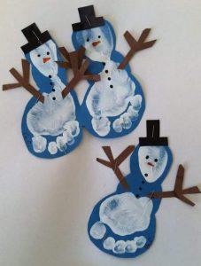 ayak-baski-ile-kardan-adam-yapimlari