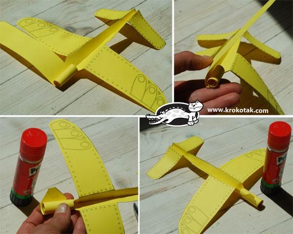 fon kartondan uçak yapma