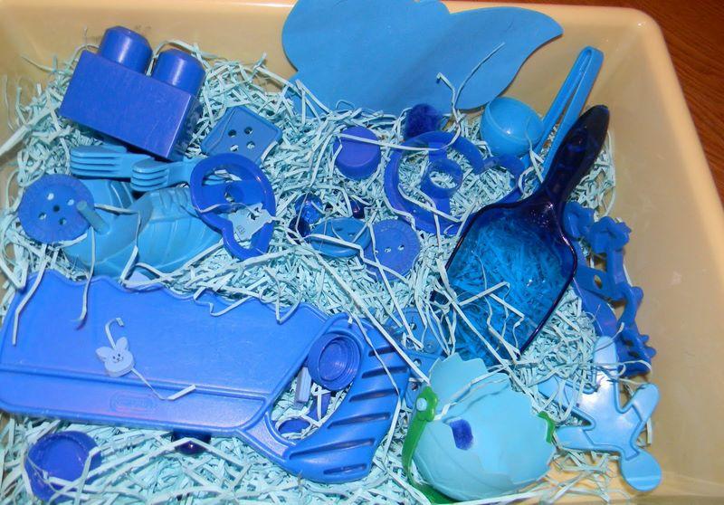 montessori mavi duyusalı