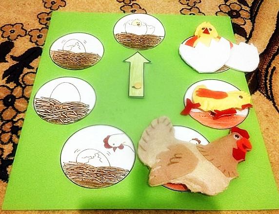 montessori tavuk teması etkinliği
