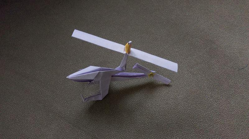 origami helikopter yapımı
