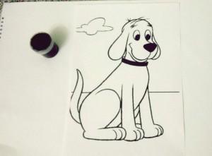 Parmak baskı ile itfaiye köpeği yapımı