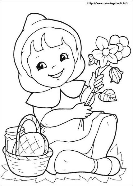 Kırmızı Başlıklı Kız Hikayesi Boyama Sayfaları En Güzel Boyamalar