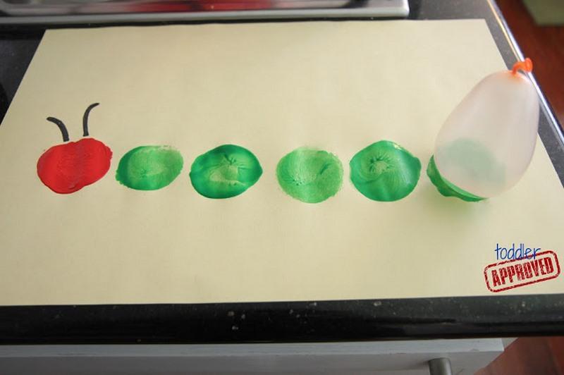 Balon baskı ile tırtıl yapımı