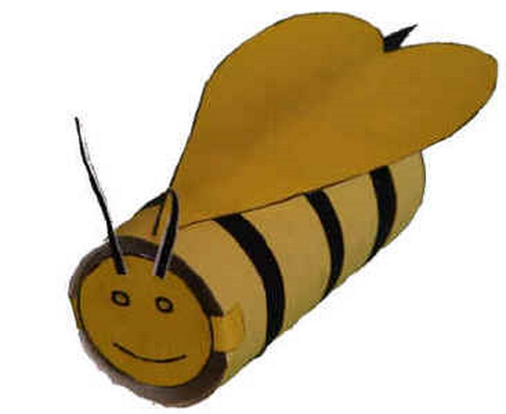 tuvalet rulosu arı yapımı