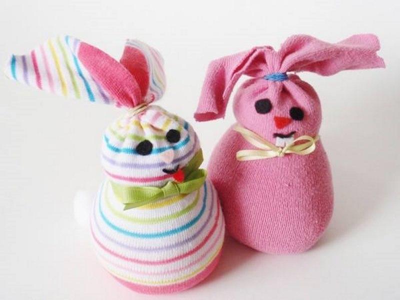 çoraptan_tavşan_yapımı