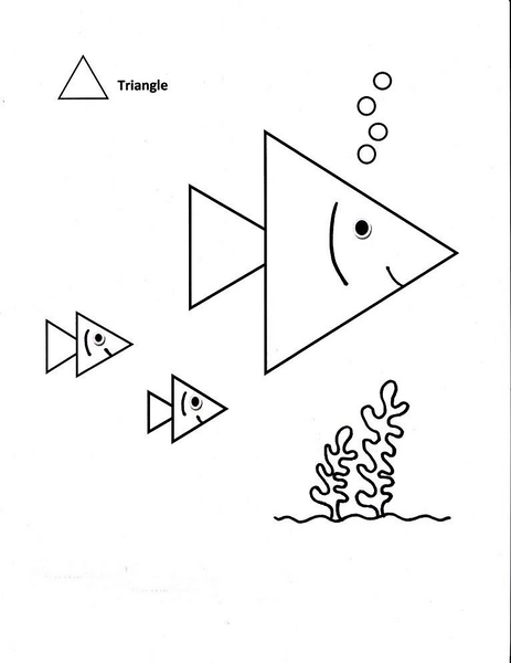 Triangle Coloring Pages Coloring Pages