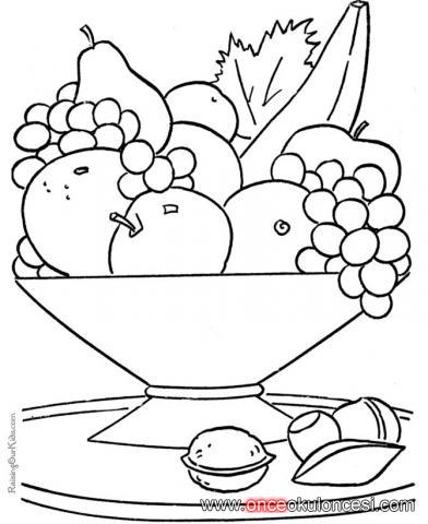 Meyveler Boyama çalışmaları Evimin Altın Topu