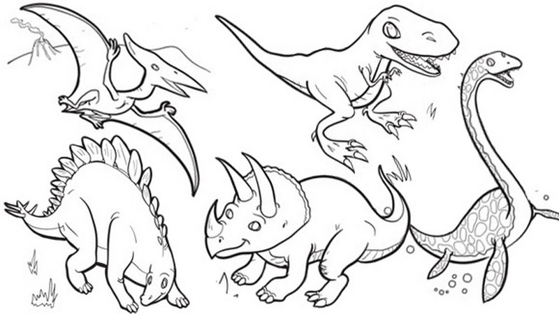 Dinozor Boyama Sayfalari En Guzel Dinozor Boyamalari