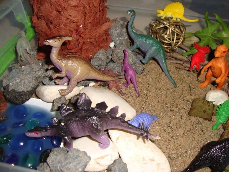 montessori dinozor duyusal havuzu