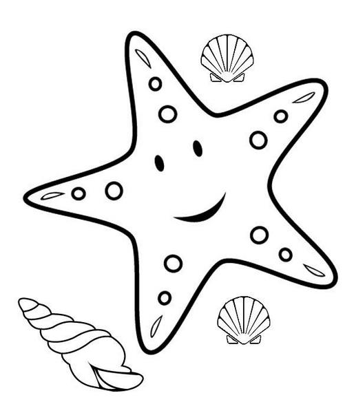 Deniz Yıldızı Boyama Sayfaları Evimin Altın Topu