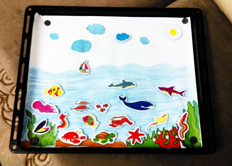 evde deniz hayvanları etkinliği