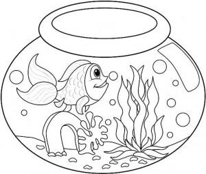 Long-Tailed-Fish-in-Fish-Bowl-Coloring-Page (Kopyala)