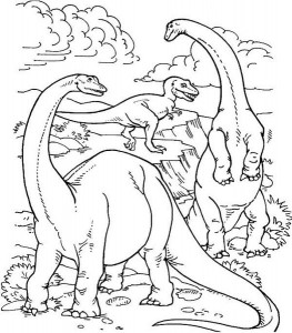 Realistic-Dinosaurs-Life-in-Their-Prime-Ages-in-Dinosaur-Coloring-Page (Kopyala)