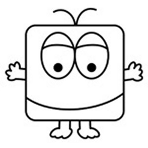 snoggle-the-square-alien-kids-coloring-page (Kopyala)
