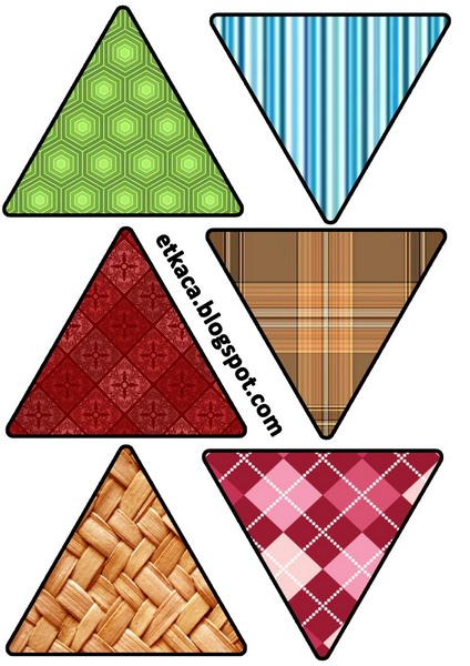 üçgen öğretim kartları