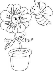 ana_sınıfı_arı_çiçek_saksı_boyama