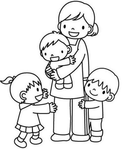 Anneler Günü Boyama Sayfaları En Güzel Anneler Günü Boyamaları