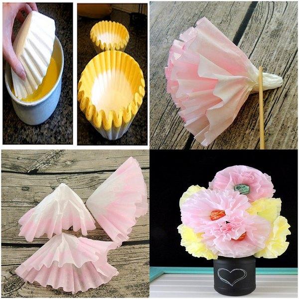cupcake_kalıplarından_çiçek_yapımı