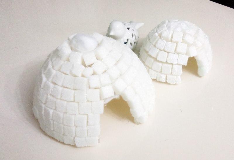 Küp şekerden Eskimo Evi Nasıl Yapılır Montessori Etkinliği Evimin
