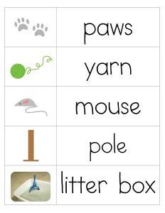 kediler_ingilizce_kelime_çalışması