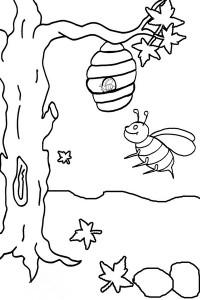 okul_öncesi_arı_ağaç_boyama