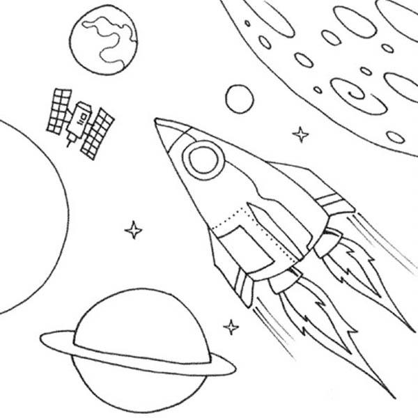 Uzay Temalı Boyama Sayfaları En G 252 Zel Uzay Boyamaları
