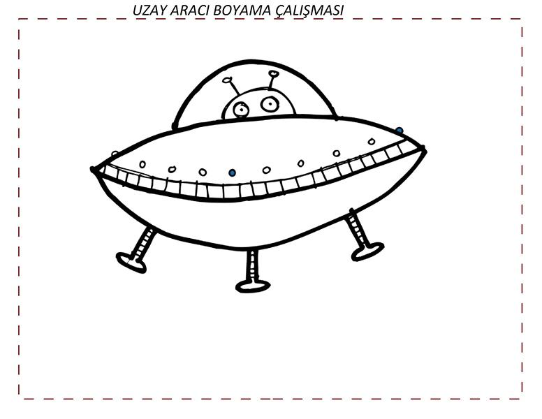 Uzay Temalı şekil Etkinlikleri Evimin Altın Topu