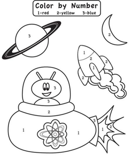 Uzay Temalı Boyama Sayfaları