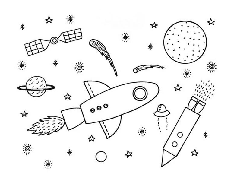 Uzay Temalı Boyama Sayfaları Okul Ev Etkinlikleri Okul 199 I 199