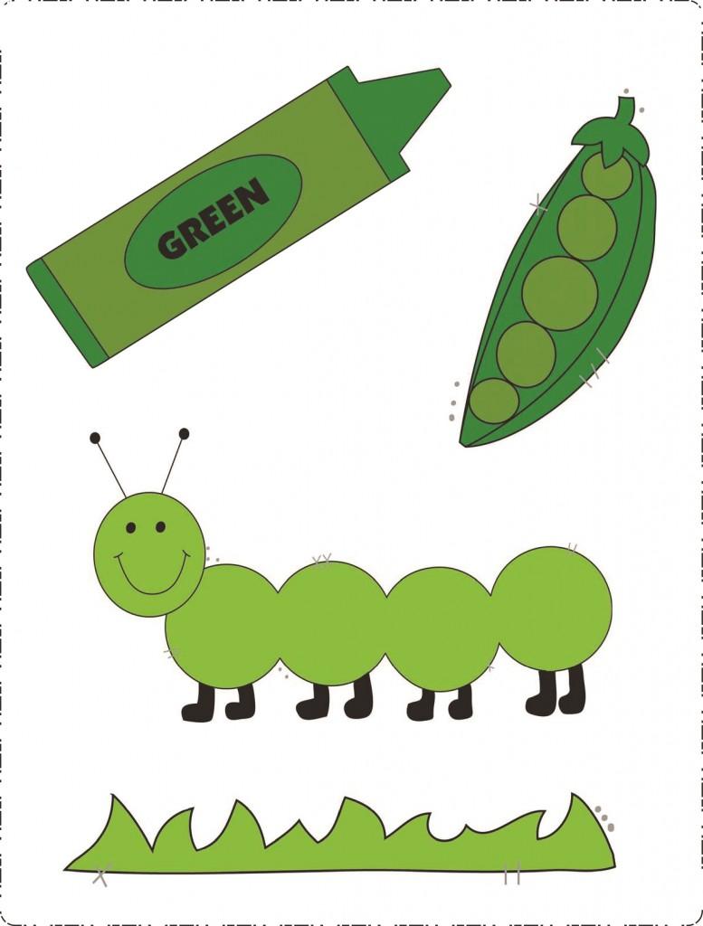Yeşil Rengi öğretim Etkinlikleri Okul öncesi Renk öğretimi Evimin