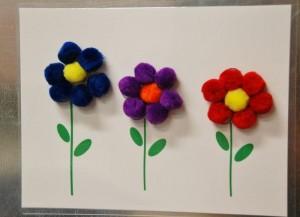 ponpondan_çiçek_yapımı