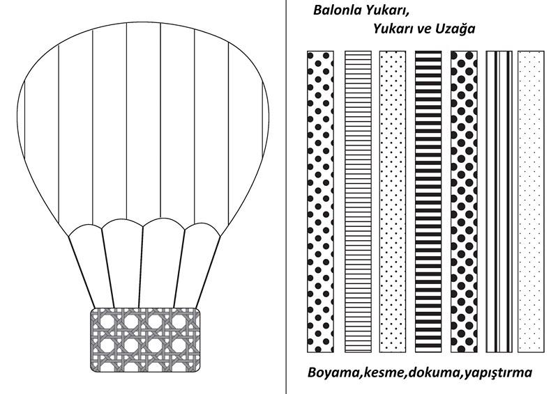 Uçan Balon Boyama