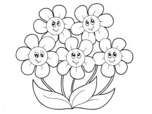 Kleurplaat Voorjaarsbloemen 15 Kleurplaat Bloemen Verjaardag Krijg