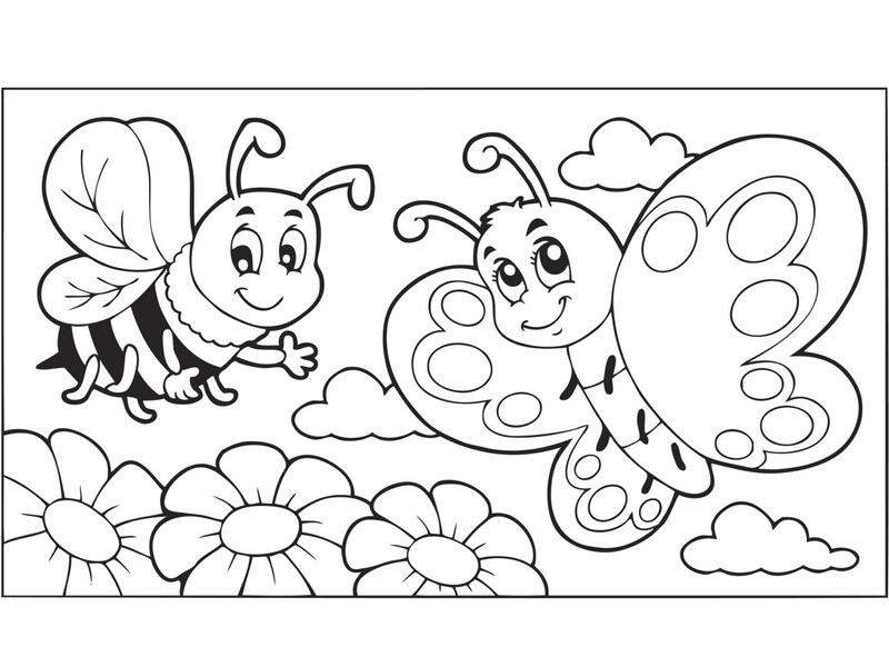 Okul öncesi Kelebek Boyama Sayfaları Gazetesujin