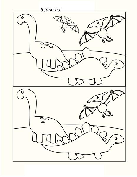 Dinozor Etkinlik Sayfaları Okul öncesi Dinozor Etkinlikleri Evimin