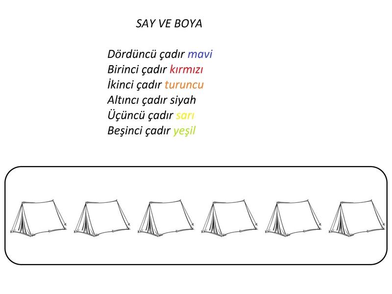 Kamp Boyama çalışmaları Evimin Altın Topu