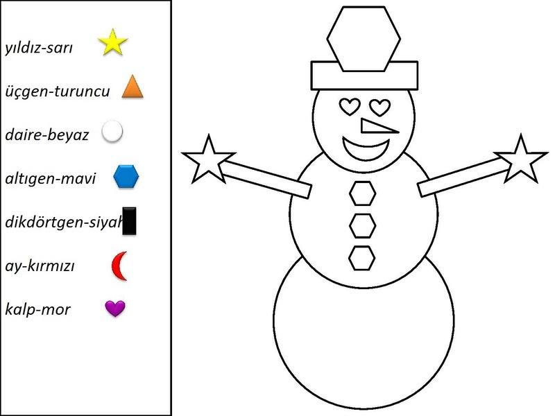 Kardan Adam Boyama çalışmaları En Güzel Kardanadam Boyamaları
