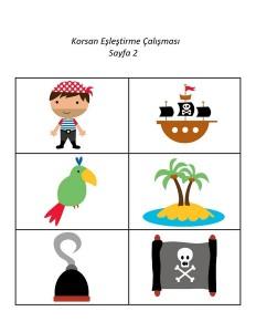 okul_öncesi_korsan_eşleştirme_çalışması