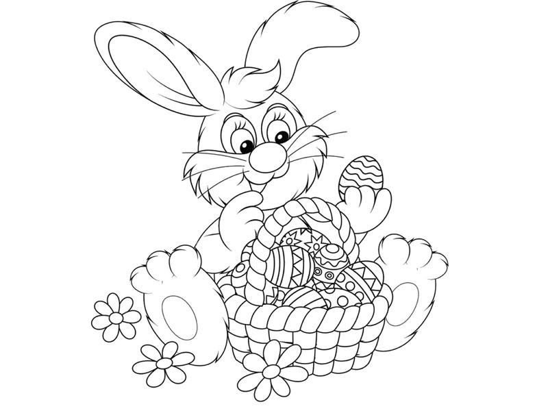 Tavşan Boyama çalışmaları Okul öncesi Tavşan Boyama Sayfaları