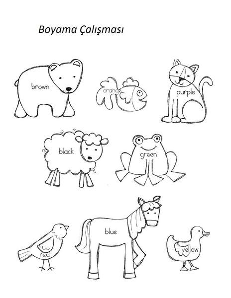 Okul öncesi Boyama Hayvanlar Gazetesujin