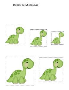 dinozor _boyut_.alışması